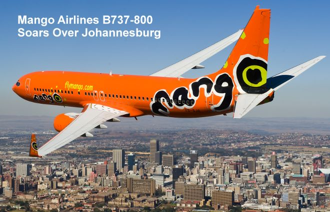 Domestic flight from Johannesburg