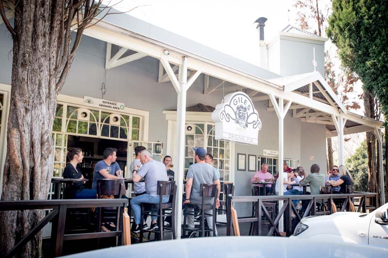 Giles Pub and Restaurant in Craighall Park popular for after work drinks